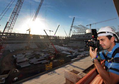 Registrando a construção da Arena do Grêmio